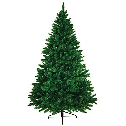 BB Sport Christbaum Weihnachtsbaum 150 cm Mittelgrün PVC Tannenbaum Künstlich Standfuß Klappsystem