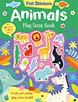 Felt Stickers Animals Play Scene Book