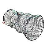 Scucs Lange Köderfische Aal Krebs Reuse, Gefaltet Fischernetz,Reuse Fischernetz,Köderfischreuse Angelnetz,Faltbare Köderfischreuse,für Fisch,Garnelen,Krabbe,Aalre,Runden Fischernetz