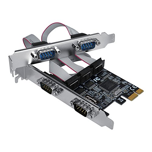 SIIG Legacy and Beyond Series Quad (4 Port) Serial RS-232 PCIe Card with 16C550 UART