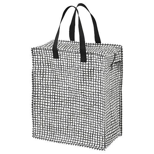 Ikea KNALLA Tasche in schwarz/weiß; (47l)