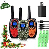 Bobela Walkie Talkies for Kids Rechargeable with Charger Battery, 3 KM Long...