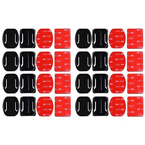 Gurxi 32 Stück Klebehalterung Flache Gebogene Klebepad Helm Halterung Helm-Klebehalterung Helm Klebepads Pads für Die GOPRO Action Camera HeroSession / 4/3/3 + / 2 Action Camera DV Geeignet