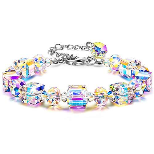 Susan Y Christmas Gifts Aurora Crystal Bracelets for Womens Gifts for Women Mum Gifts for Her Personalised Jewellery Women Ladies Sister