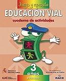 Juego y aprendo educación vial 3 años: Cuaderno de actividades - 9788424172886