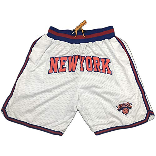 Outdoor Sport Basketball Shorts Knicks Shorts Basketball Training Shorts Retro Stickerei Mesh Atmungsaktiv L