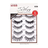 KISS So Wispy Curated Collection of Bestselling False Eyelash Styles Multipack, Volume & Curl, Lash Extensions Look, Signature Wispy Effect, Cruelty Free, Reusable, Contact Lens Friendly, 5-Pair