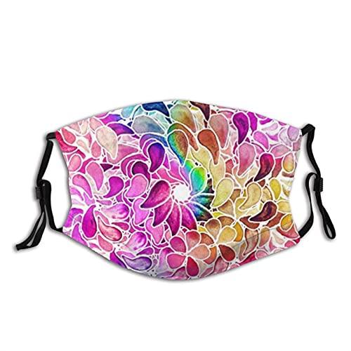 Mascarilla reutilizable Ma-sks Floral Mandala Face Ma-sk para mujeres...