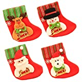 Vosarea 12pcs Mini Christmas Stockings Felt Socks Tree Fireplace Door Hanging Decorations