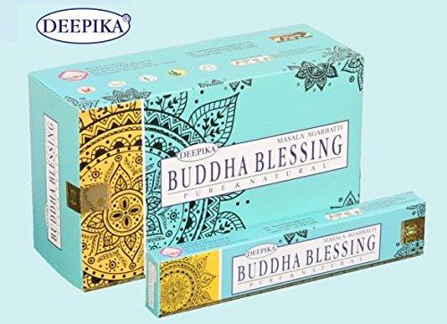 Deepika Buddha Glück Räucherstäbchen, 15Gramm, 12Packungen