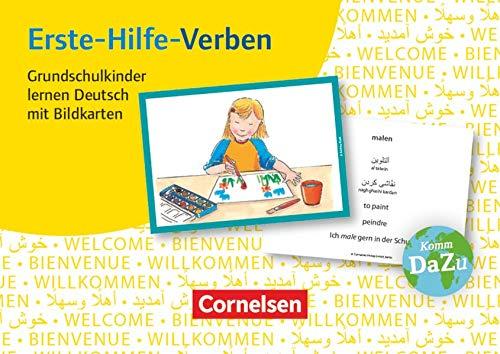 Deutsch lernen mit Fotokarten - Grundschule: Erste-Hilfe-Verben - 100 Bildkarten