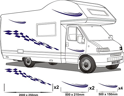 Smarts-Art caravana gráficos de vinilo pegatinas calcomanías SET furgoneta RV OLPro cualquier COLR juego 11
