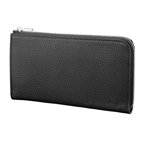 【GRAMAS】 L字ファスナーウォレット シュランケンカーフ レザー Smart Organizer Wallet 本革 プレゼント (ブラック)