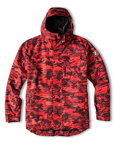 Chamonix Ruffieu Snowboard Jacket Red Camo Mens Sz L
