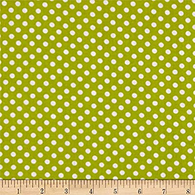 Polka Dot Lime Quilt Fabric, 0650280