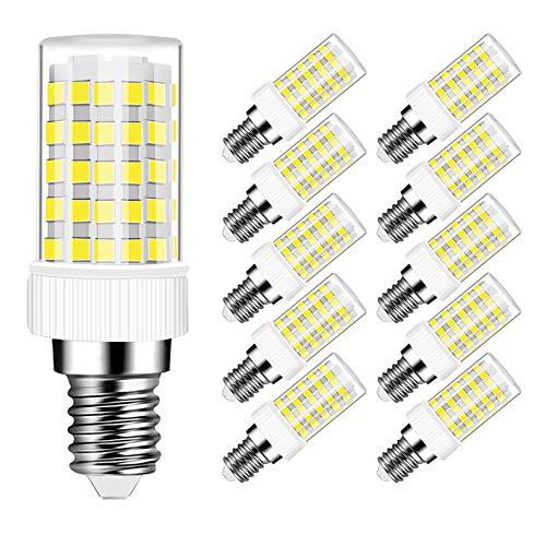 Ampoule LED E14 10W Equivalent 80W 800LM, Blanc Froid 6000K, AC 220-240V, Ampoule E14 10W pour Lustre, Lustre en Cristal, Applique, Non-dimmable, Lot de 10 - MAYCOLOR