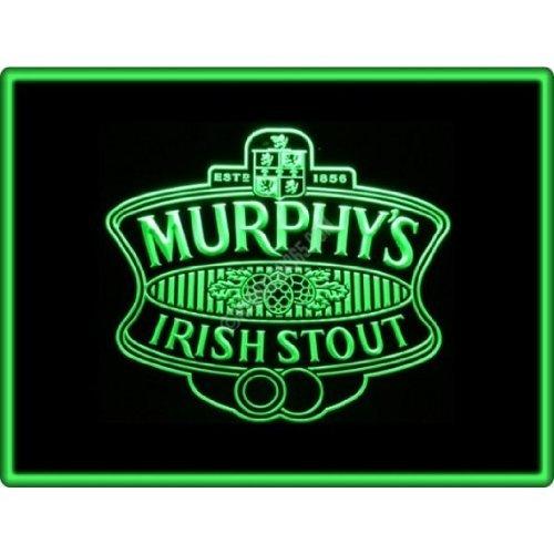 Murphys Irish Stout Cerveza de Dibujo Escudo Verde de neón Publicidad LED