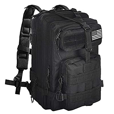 NOOLA Military Tactical Backpack Large Army Rucksack Assault Pack Molle Bag Black