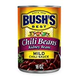 BUSH'S BEST Canned Kidney Beans in a Mild Chili Sauce (Pack of 12), Source of Plant Based Protein...