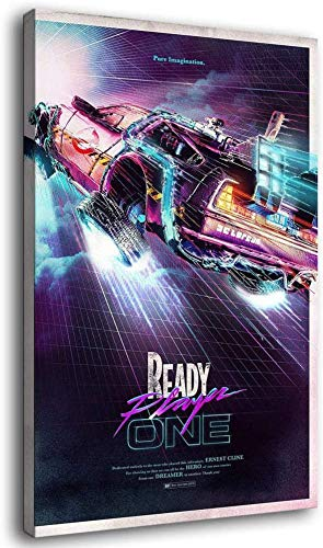 Kribee Ready Player one Back to The Future Canvas Art Poster and Wall Art Picture Print Modern Family Bedroom Decor Posters