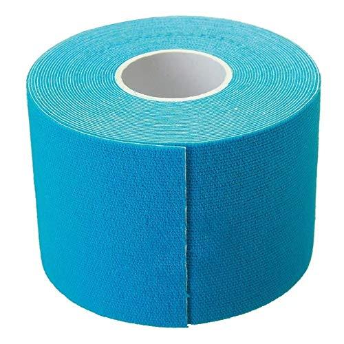 Klebeband Kinesiologie medizinische elastische Tape-Verband Sport Physio Medical Muskel Schmerzen am Sprunggelenk Dienst Support 5cmx5m (Farbe : Blue)