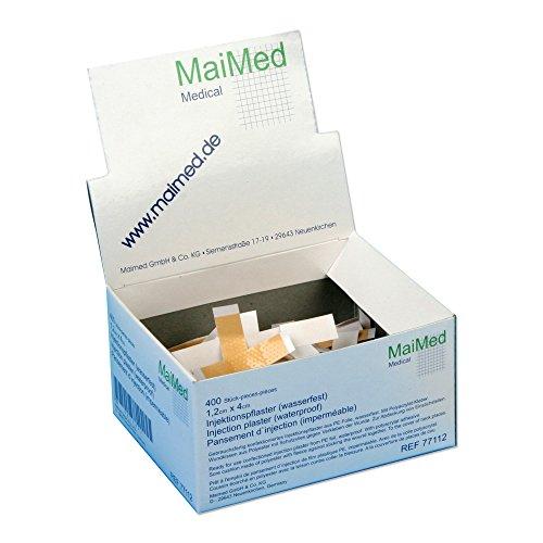 MaiMed Injektionspflaster aus PE Folie wasserfest (1 x 4 cm) 400 Stück