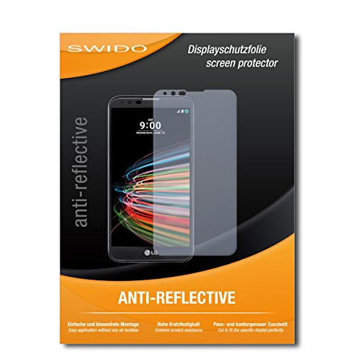 SWIDO Schutzfolie für LG X mach [2 Stück] Anti-Reflex MATT Entspiegelnd, Hoher Festigkeitgrad, Schutz vor Kratzer/Bildschirmschutz, Bildschirmschutzfolie, Panzerglas-Folie