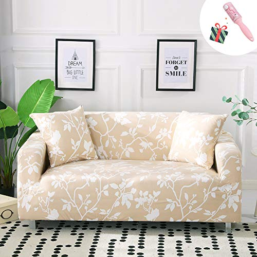 Funda Sofá de 3 plazas Universal Estiramiento, Morbuy Nórdico Cubierta de Sofá Cubre Sofá Funda Furniture Protector Antideslizante Elastic Soft Sofa Couch Cover (3 plazas,Beige)