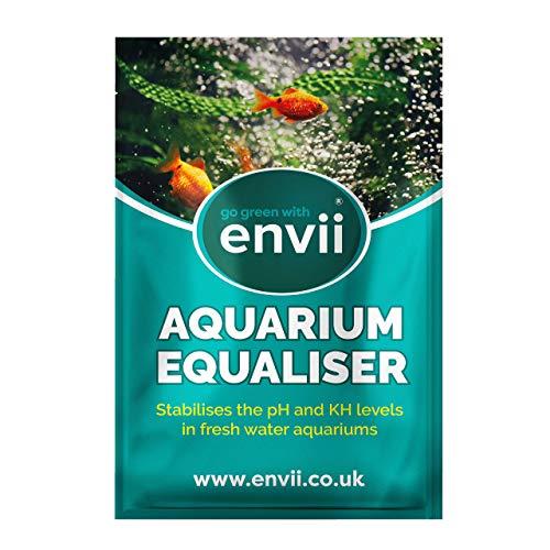 Envii Aquarium Equaliser – Regulador para pH del Acuario Que Equilibra y Estabiliza los Niveles de pH, KH y GH - Tratamiento para 500l