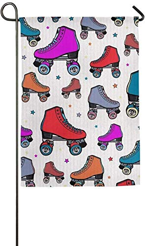 Trista Bauer Benutzerdefinierte Rollschuh Winter Home Yard Hausgarten Fahnen 12 x 18 Zoll Polyester Faser dekorativ