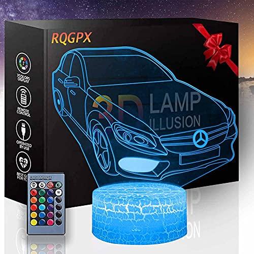 Lámpara 3D Illusión Óptica Luz de la Noche del Coche 3D Lámparas Cumpleaños Vacaciones Regalo de Halloween Decoraciones para Niños Adolescentes Novios