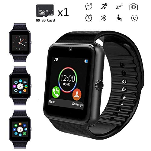 Beaulyn Smart Watches,Touch Screen Sport Wrist Watch Phone for Android Pedometer Smartwatch Compatible Samsung Men Women …