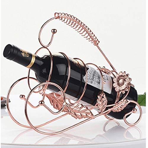 Estante para botellas de vino copas vino encimera Europea retro Hierro forjado estante del vino, estante del vino elegante decoración, conveniente for bares, discotecas, bodegas, sótanos, Armarios, Ar