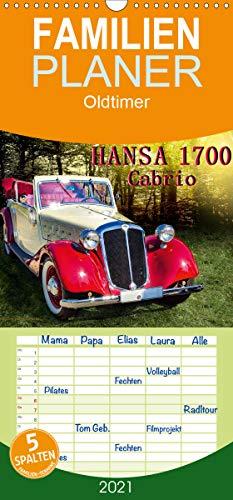 Hansa 1700 Cabrio - Familienplaner hoch (Wandkalender 2021 , 21 cm x 45 cm, hoch): Die neuen Hansa-Modelle 1700 waren erstmals im Frühjahr 1934 auf ... Berlin zu sehen. (Monatskalender, 14 Seiten )