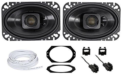 Polk Audio 4x6' Waterproof Front Speaker Replacement For 97-02 Jeep Wrangler TJ