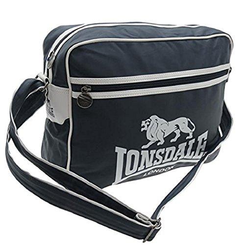 Lonsdale Borsa Messenger Bag - Taglia unica, PU, Navy