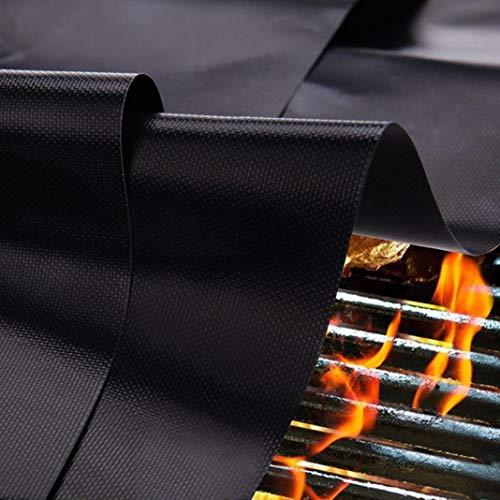 0o1smanhol Barbecue Grill Cushion Practical,Barbecue Picnic Heat Resistant Non-Stick Teflon Fiberglass BBQ Grill Mat Pad