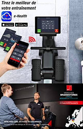 Sportstech RSX500 Rameur- Marque Allemande de qualité -Video & multijoueurs APP - avec Moniteur de...