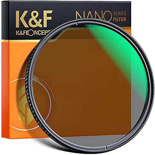 K&F Concept Polfilter zirkular CPL mit Schraube 86 mm Serie Nano X aus optischem Glas mit 28 Schichten für Objektiv 86 mm