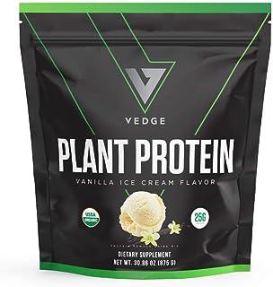 Certified Organic Plant Protein Vanilla Ice Cream (25 Servings) - Plant-Based Vegan Protein Powder, USDA Organic, Gluten F...