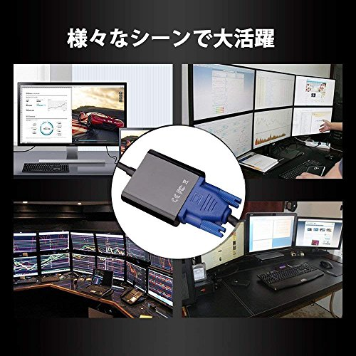 『USB3.0 VGA 変換 アダプター VGA 変換 アダプタ USB ディスプレイアダプタ ビデオグラフィックカード1080pサーポート USB3.0 to VGA Windows 10/8.1/8/7など対応』の1枚目の画像