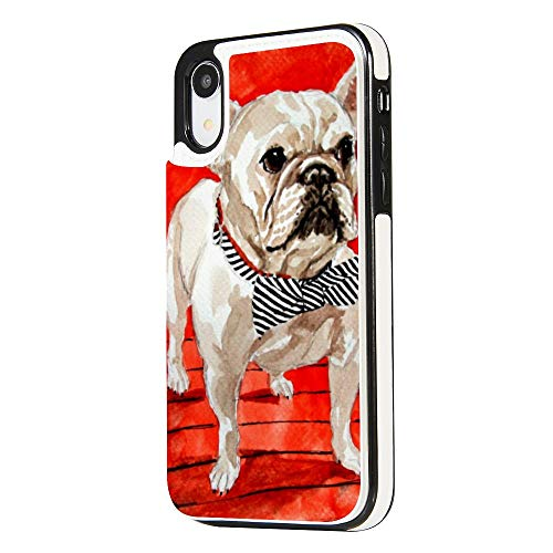 Animal French Bulldogs Case for iPhone XR,Soft TPU& Leather Flip Wallet Case Cover with Card Slots & Kickstand,Shockproof Drop Protection Anti-Scratch Full-Body Protection Case