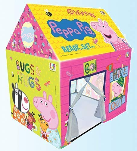 FlexZone® Jumbo Size Extremely Light Weight Kids Play Tent House for 10 Year Old Girls and Boys (Peppa Pig Tent)
