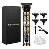 Tagliatrice Capelli, Rasoio Capelli Professionale Tagliacapelli Hair Trimmer T-Outliner Tagliacapelli Precisione con 3 Pettini per Diverse Lunghezze di Taglio per Uomini (9#)