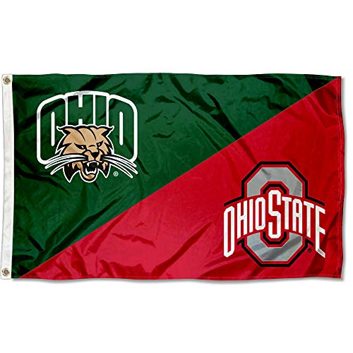 Ohio vs Ohio State House Divided 3x5 Flag Rivalry Banner