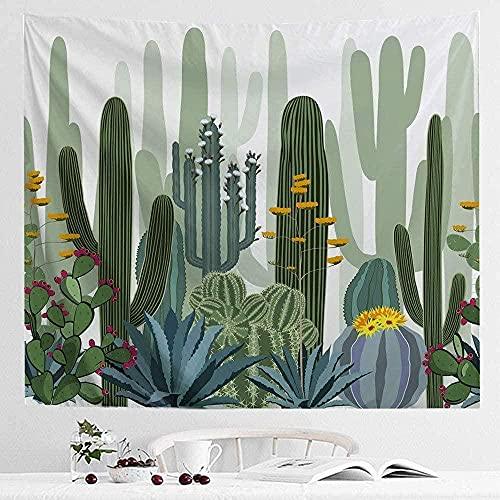 KBIASD Cactus Tapiz para Colgar en la Pared Cactus del Desierto Planta Natural Floral Arte Bohemio Manta psicodélica Decoración para la Vida DormitorioAlfombra de Picnic Estera de Yoga 150x200cm