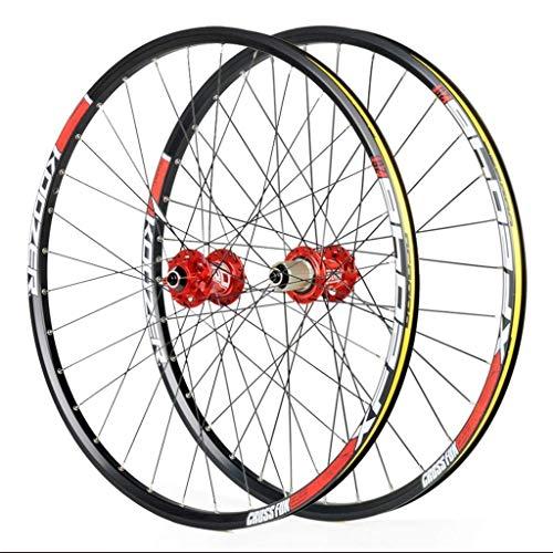 Ruedas de ciclismo para 26 27,5 29 pulgadas, juego de ruedas de bicicleta de montaña, aleación de doble pared, freno de disco de liberación rápida, compatible con rueda de bicicleta de 8-11 velocidade