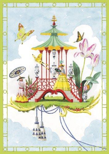 Caspari Garden Follies Assorted Blank Notecards, Box of 8