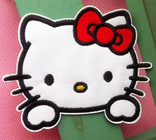 Cute Classic hello kitty cat Embroidered Iron On Sew On Patch product image