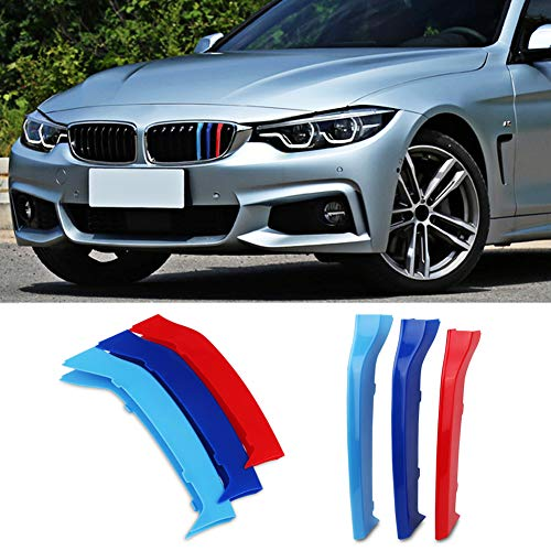 VANJING M-Colored Stripe Grille Insert Trims for BMW F32 F33 2013-2018 4 Series (Only Fit 9 Beams) Kidney Grills …